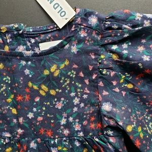 Floral Butterfly Sleeve Blouse